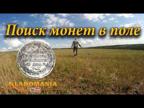 Поиск монет в поле. Вот так находка! Ценная находка с металлоискателем! 1 руб 1817 года Александр II