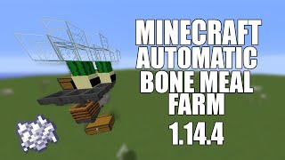 Minecraft BONE MEAL farm AFK and easy 1.14.4