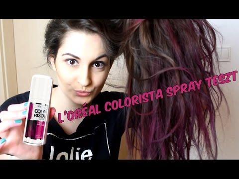 L'oréal Colorista spray teszt - PINK lett a hajam