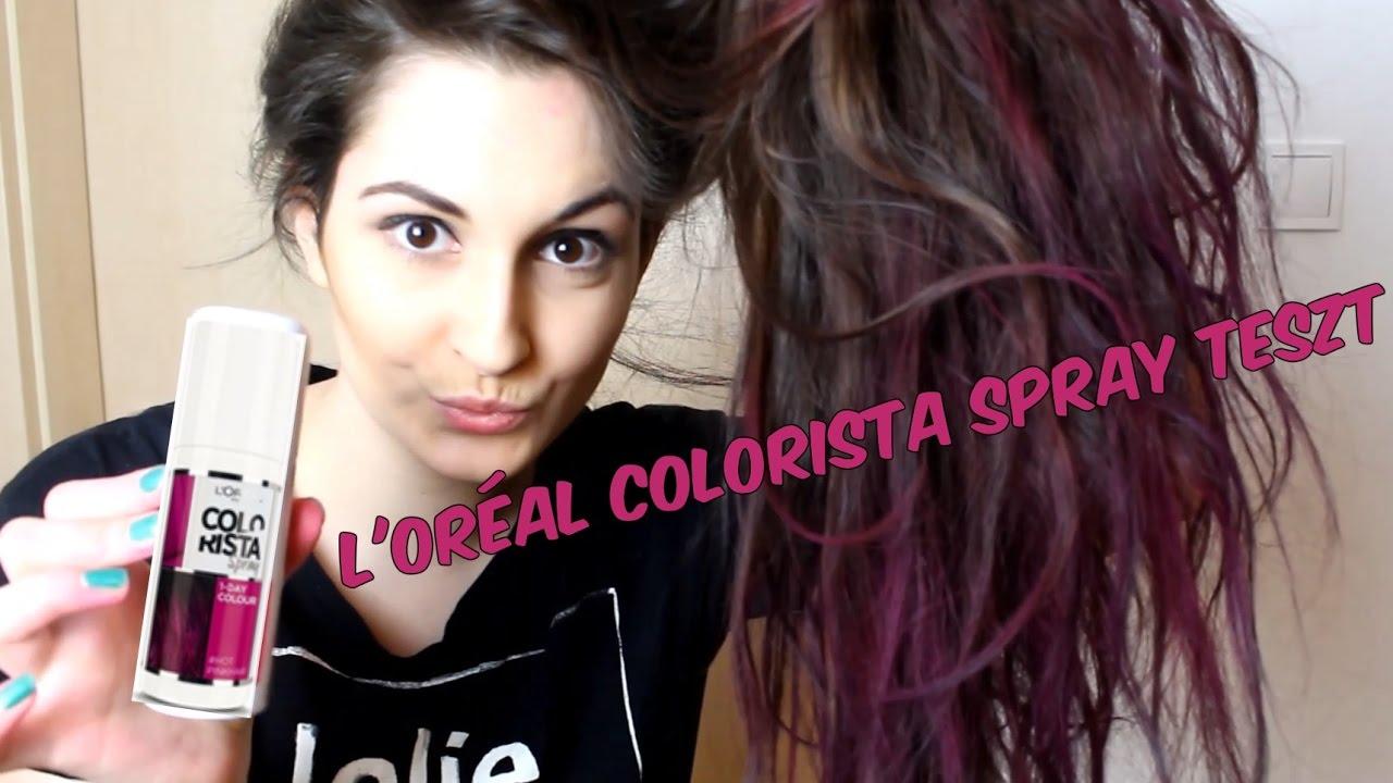L oréal Colorista spray teszt - PINK lett a hajam - YouTube 251e933077