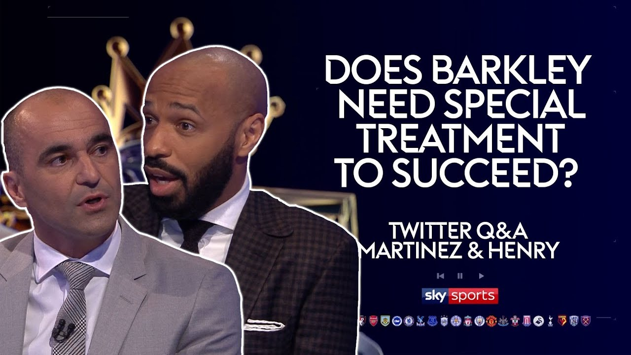 Does Ross Barkley need special treatment to succeed? | Roberto Martinez & Thierry Henry |Twitter