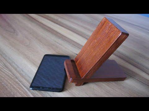 Как сделать подставку для телефона из дерева