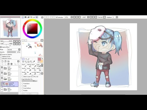 Sally Face speedpaint// Chibi Sal Without Mask