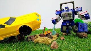 Трансформеры ищут Сокровище! Автоботы готовятся к 1 Сентября