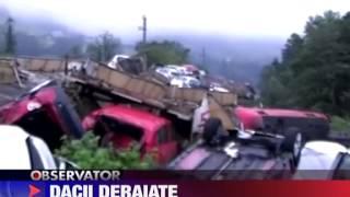 Tren plin de Dacii deraiat 17 IUNIE 2010