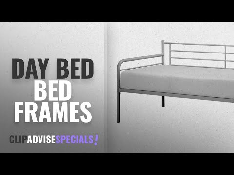 Top 10 Day Bed Bed Frames [2018]: DHP Daybed Metal Bed Frame, Twin Size - Silver