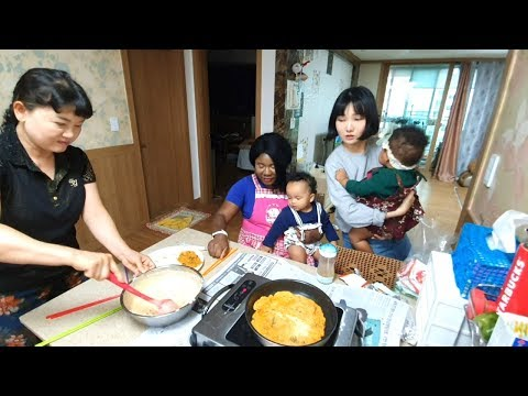 FIRST TIME Making Korean Food With My Korean Family!
