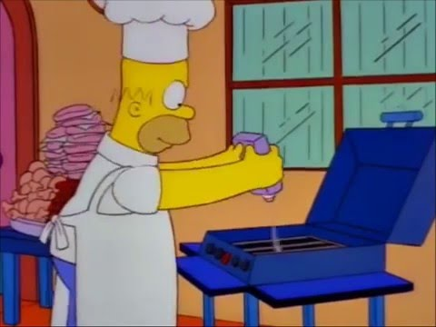 11 hrs of Homer Simpson lighting BBQ