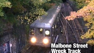 ⁴ᴷ Franklin Shuttle Trains using the 'Malbone St Wreck' Track