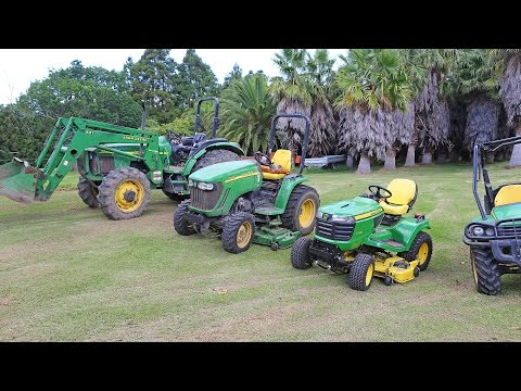 Driving John Deere farm equipment