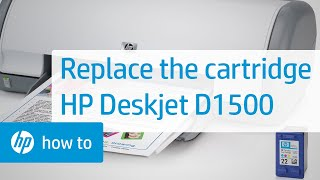 Replacing a Cartridge - HP Deskjet D1500 Printer