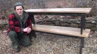 Building Farm Table Benches