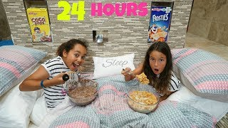 24 HOUR CHALLENGE OVERNIGHT IN MY BATHROOM!! thumbnail