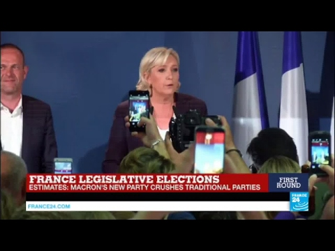 Thumbnail: REPLAY - Watch Marine Le Pen's speech after French Parliamentary elections