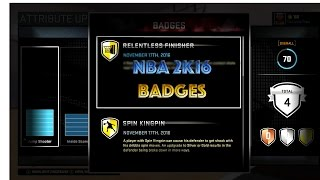 NBA 2K16 Badges!! Relentless Finisher!! (BEST TUTORIAL)