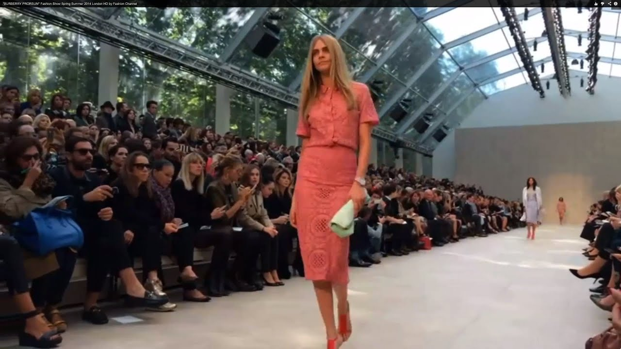 Burberry Prorsum Fashion Show Spring Summer 2014 London By Fashion Channel Youtube