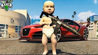 UN BEBE EN GTA !! EL BEBE MAS RICO DE GTA 5 MODS PC Makiman