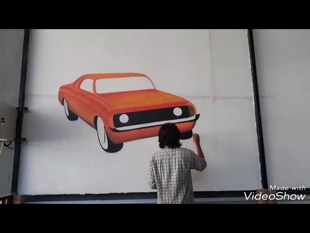 Cara melukis di dinding | tutorial lukis mural cafe