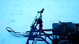 Лыжный модуль Бурлак ЛМ-2 на мотобуксировщик Baltmotors snowdog