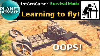 Planet Nomads - Learning to fly in .8