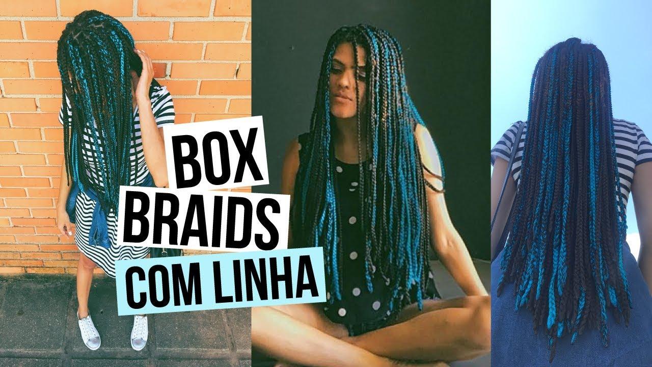 Box Braids com linha de croch Como fazer  Tudo sobre