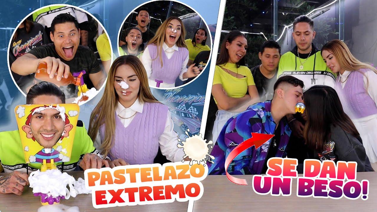 CESAR PANTOJA Y KATIA VLOGS SE  DAN UN BES0 😱 RETO DEL PASTELAZO 🎂 EL SUPER TRUCHA