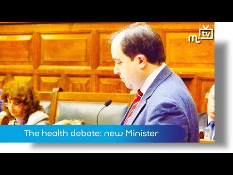 Health service debate: new Minister (audio fixed)