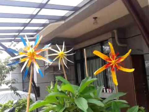 庭園 造景 風車 製作 DIY 01