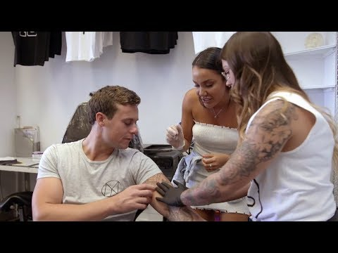 Ryan gets a tattoo of Davina | Married at First Sight Australia 2018