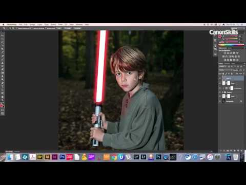 Add A Glowing Lightsaber In Photoshop CC