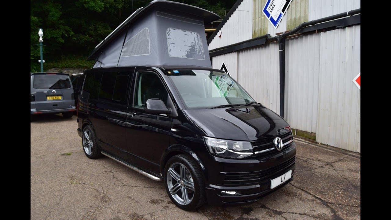 7c10fb30c8 2016 VW T6 Camper 4 Berth Sportline Pack DSG Auto Pop Top Roof - YouTube