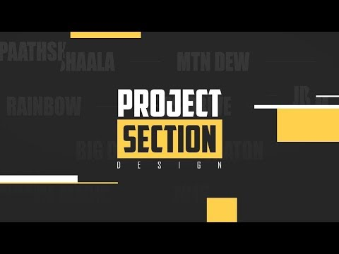 Project Section Design | CSS Tutorial  2019 thumbnail
