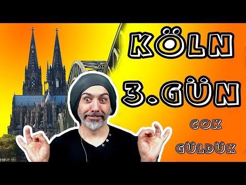KÖLN'de  3.gün- sokak sanatcilari,domm kilisesi,balik tutan bir Türk-asmali köprü,kahkaha