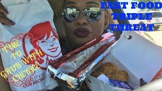 FAST FOOD TRIPLE THREAT  MUKBANG   EATING SHOW