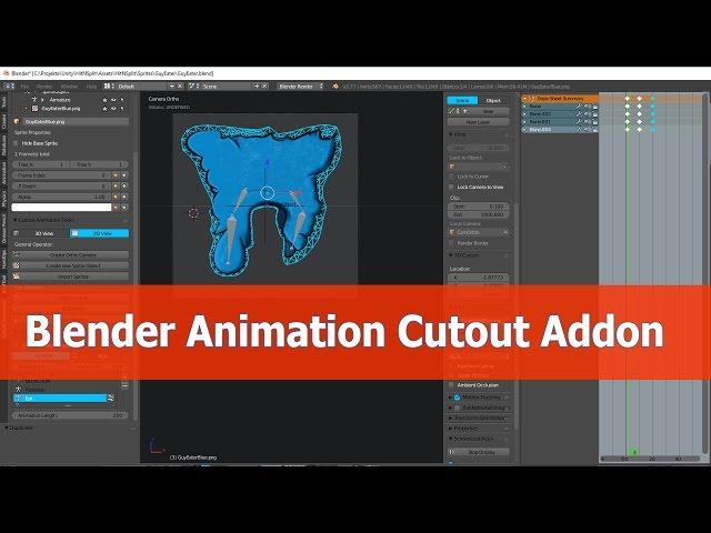 Blender cutout animation tools addon tutorials | JayAnAm