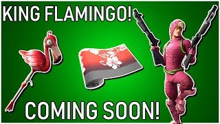 "*NEW* ""KING FLAMINGO"" SKIN COMING INTO (FORTNITE BATTLE ROYALE)"