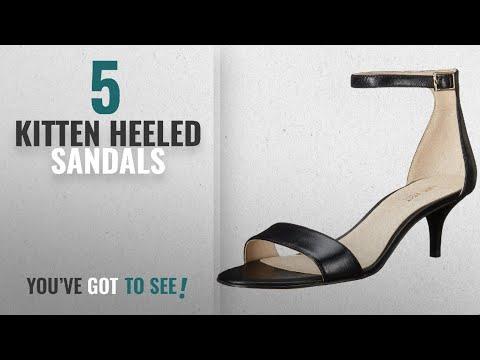 923b5e566ed53 Top 5 Kitten Heeled Sandals [2018]: Nine West Women's Leisa Leather ...