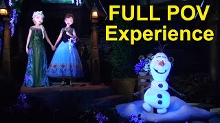 frozen ever after full pov ride experience w queue details disney epcot norway pavilion