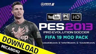 PES 2013 | New Mod Like FIFA 19 (Gameplay, Theme, turfs) PC/HD
