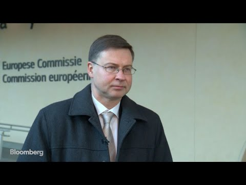 Euro-Area Economy in Slowdown, Still Growing, Says European Commission's Dombrovskis
