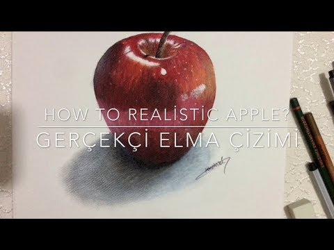 How To Realistic Apple Gerçekçi Elma çizimi Youtube