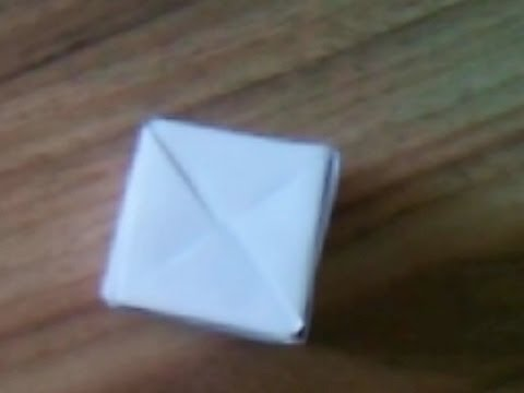 Как сделать бумажный кубик?