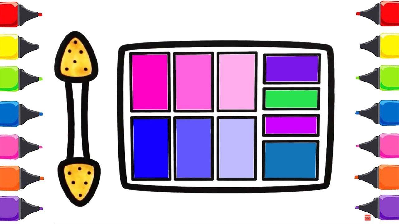 Makyaj Seti Boyama Renkleri öğreniyorum Boyama Sayfası çocuklar