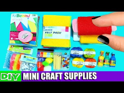 10 Real Working DIY Miniature Doll Arts and Crafts Supplies [REALLY WORKS] - 10 Easy DIY Doll Crafts