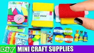 DIY Miniature Doll Arts and Crafts Supplies [REALLY WORKS]  - 10 Easy DIY Doll Crafts