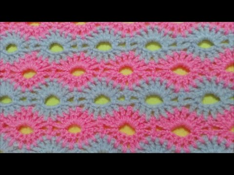 Crochet Stitches On Youtube : How to Crochet Road of flowers Stitch / Crochet Patterns # 2 - YouTube