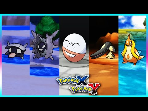 Pokemon X & Y - Shellder,Cloyster,Electrode,Mawile & Floatzel Locations