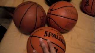 NEW NBA OFFICIAL GAME BASKETBALL differences from past models - BETTER TO BREAK IN (2011-2012 ball)!