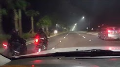 Motorcycle crash caught on tape. Jacksonville beach florida 10/30 at 2 am