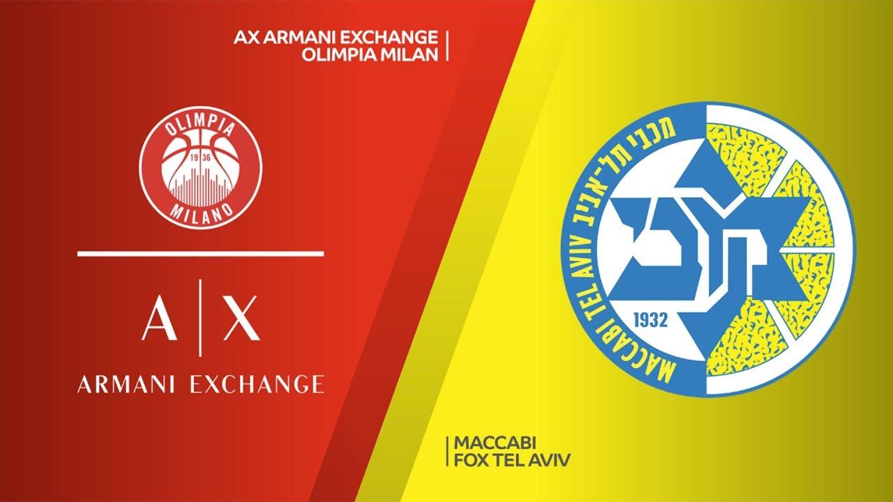 ÖZET | AX Armani Exchange Olimpia Milan - Maccabi FOX Tel Aviv Videosu